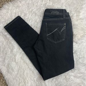 Vanity Black/Dark Gray Skinny Jeans 27